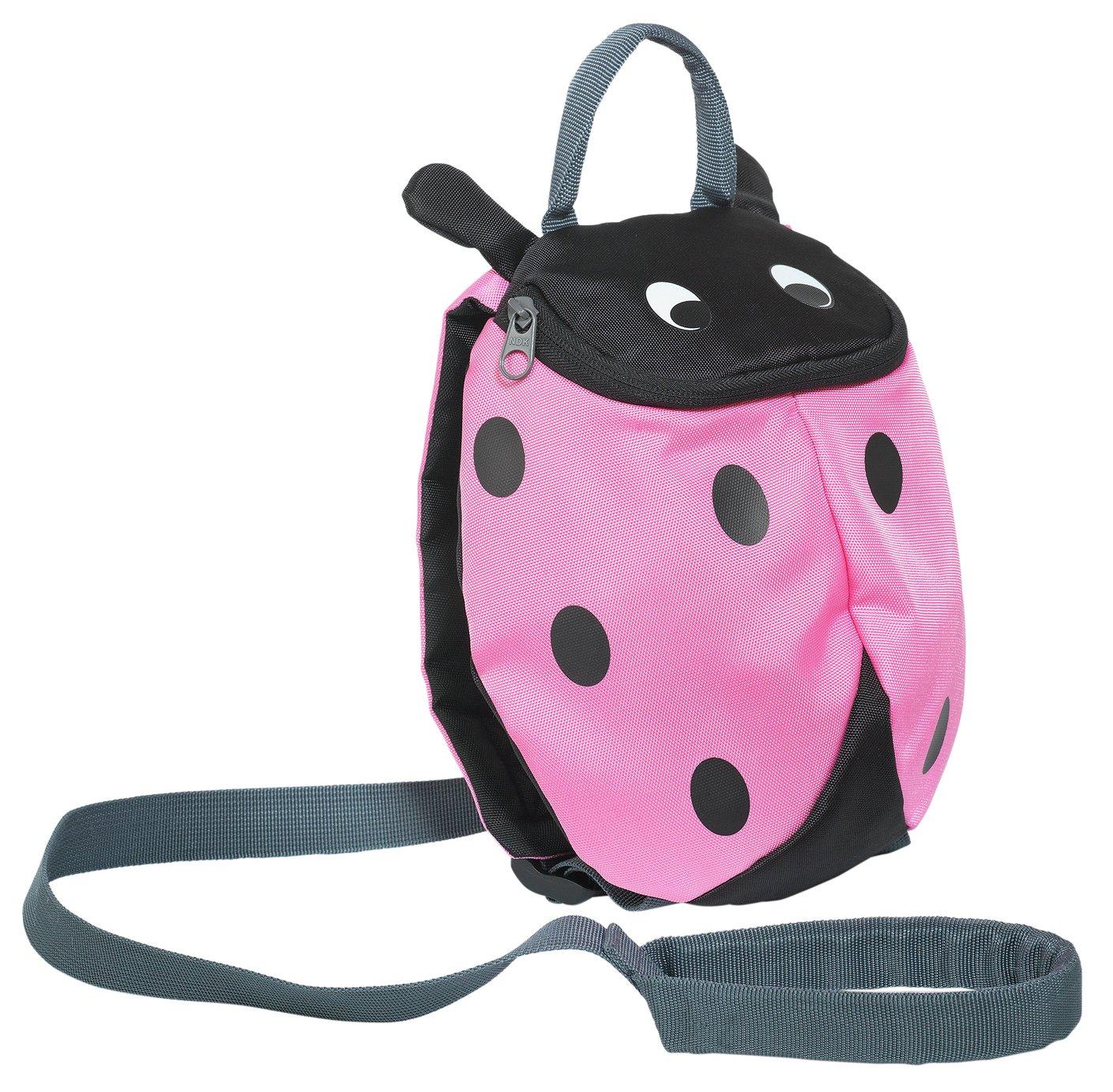 Image of Trespass - Ladybird Reins Backpack - Pink