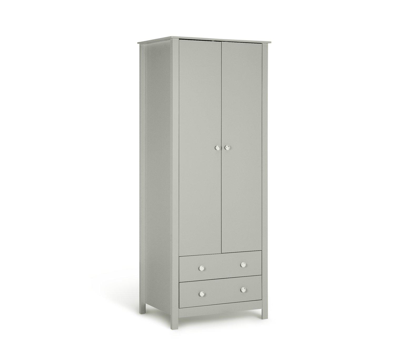 e8b94d38745 Argos Home Osaka 2 Door 2 Drawer Wardrobe - Soft Grey