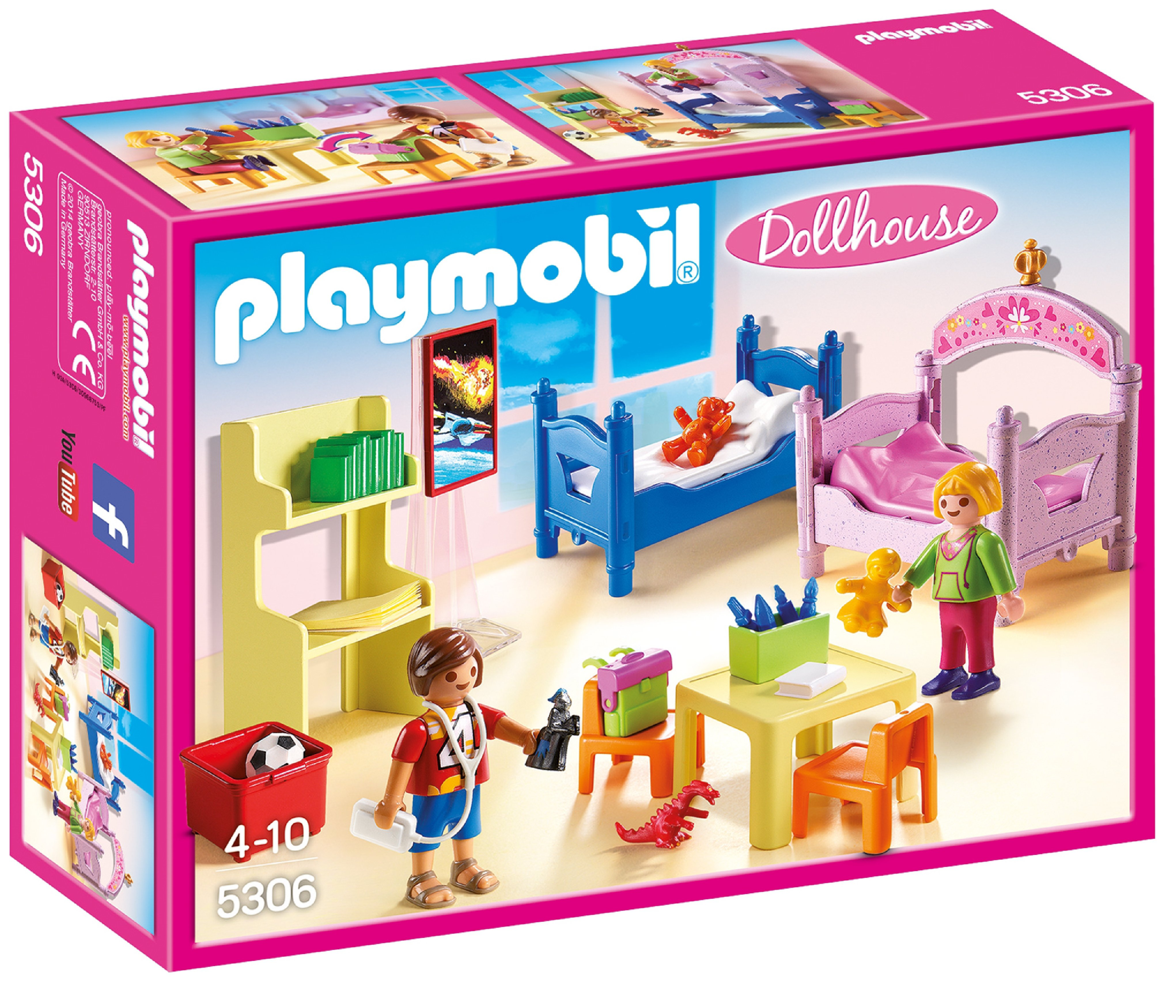 Playmobil 5306 Dollhouse Childrens Room.