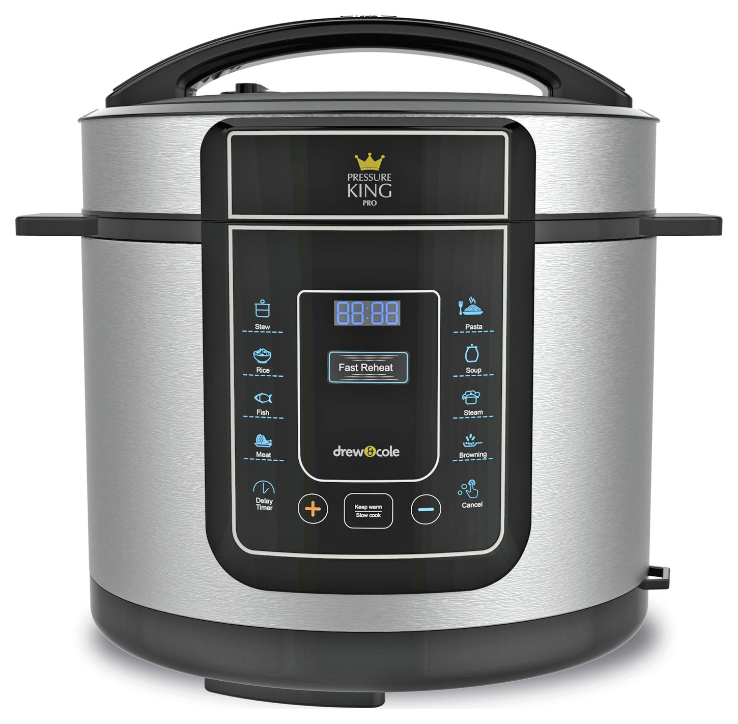 Image of Pressure King Pro - 3 Litre Electric Pressure Cooker - Silver