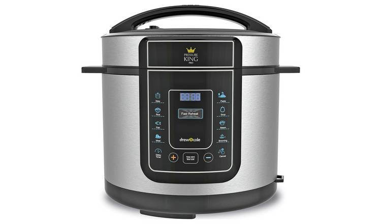 Pressure King Pro 8-in-1 3L Digital Pressure Cooker - Chrome