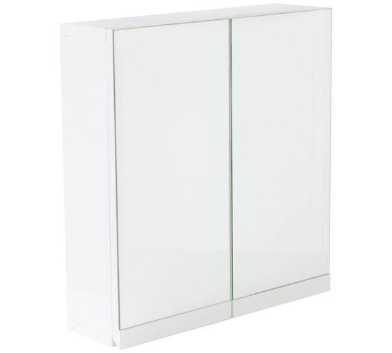 Buy Hygena Gloss 2 Door Bathroom Wall Cabinet White Bathroom