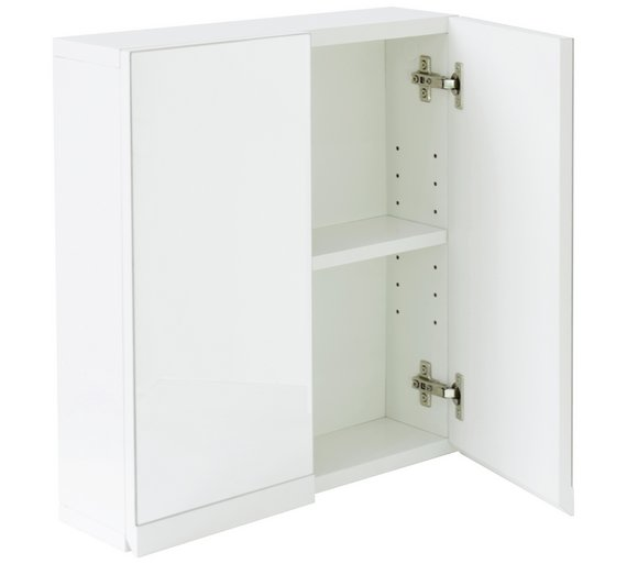 bathroom wall cabinets white. Click to zoom Buy Hygena Gloss 2 Door Bathroom Wall Cabinet  White at Argos co