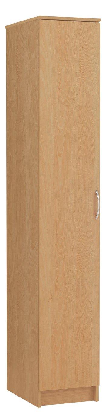 Argos Home Cheval Single Wardrobe - Beech Effect