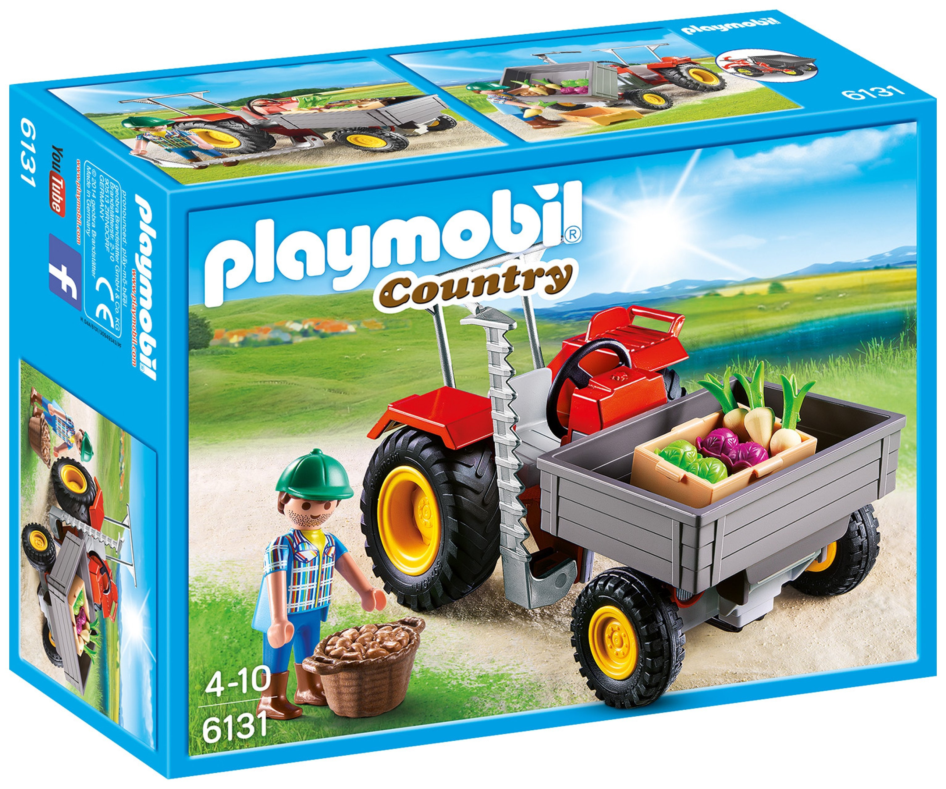 Playmobil 6131 Country Harvesting Tractor.