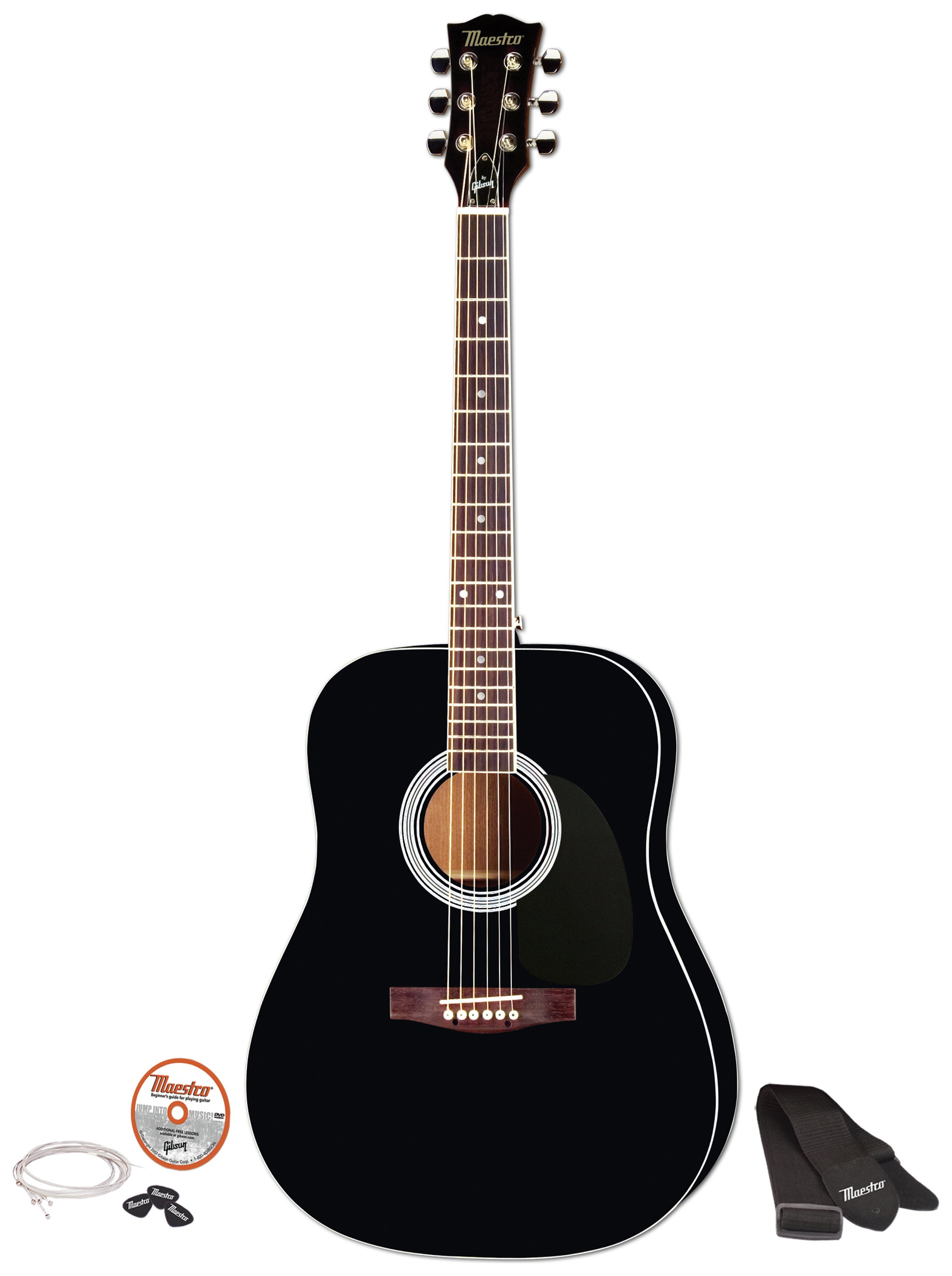 Image of Maestro by Gibson Full Size Acoustic Guitar - Black