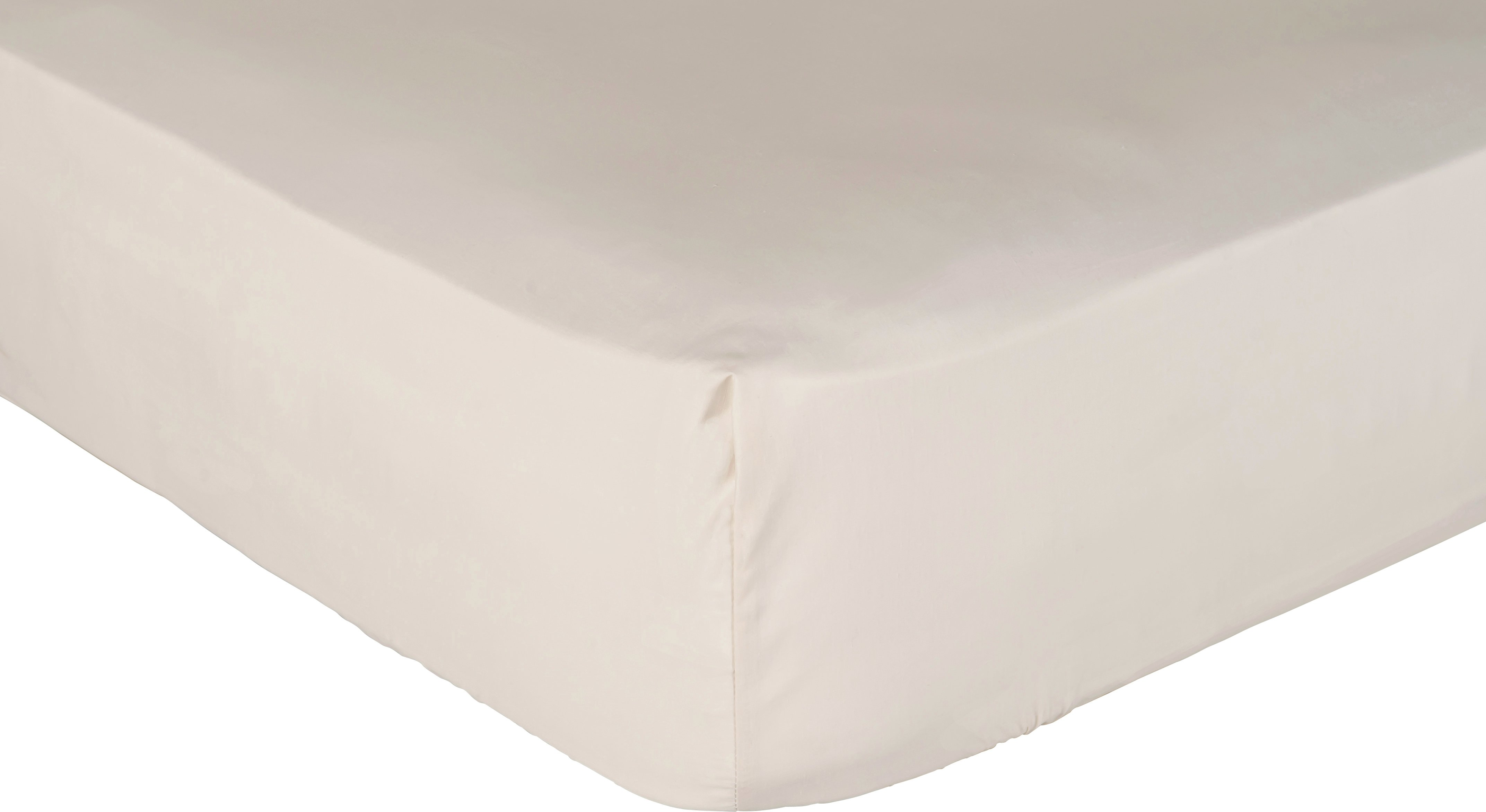 collection cream non iron fitted sheet  single
