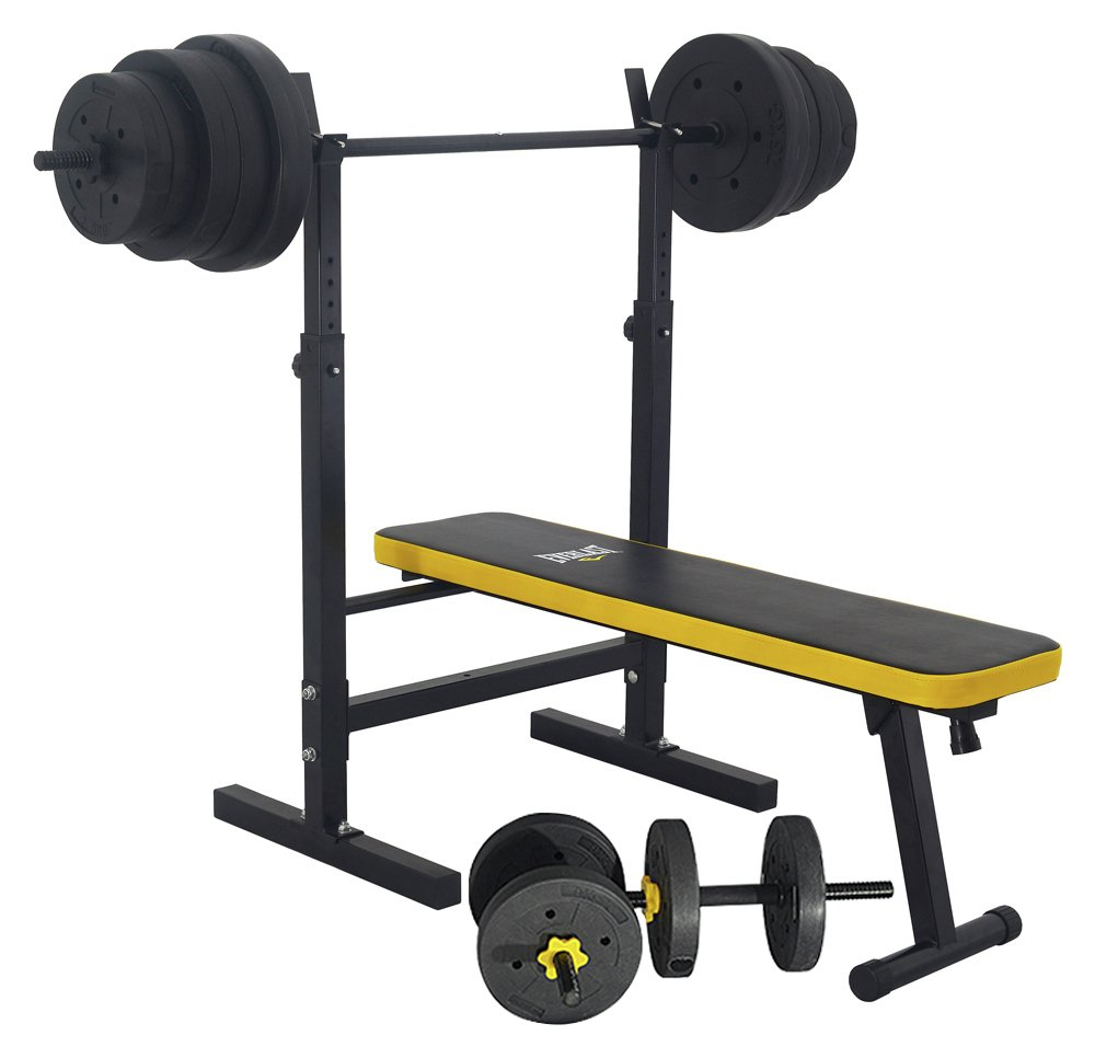 'Everlast - Folding Bench With 50kg Weights