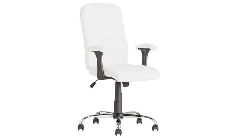Buy Argos Home Jarvis High Back Chair With Arms White Office