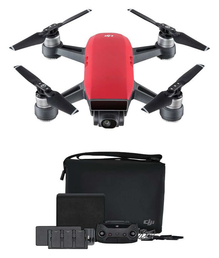 DJI CP.PT.000906 DJI Spark Fly More Combo Kit, Lava Red Best Price and Cheapest