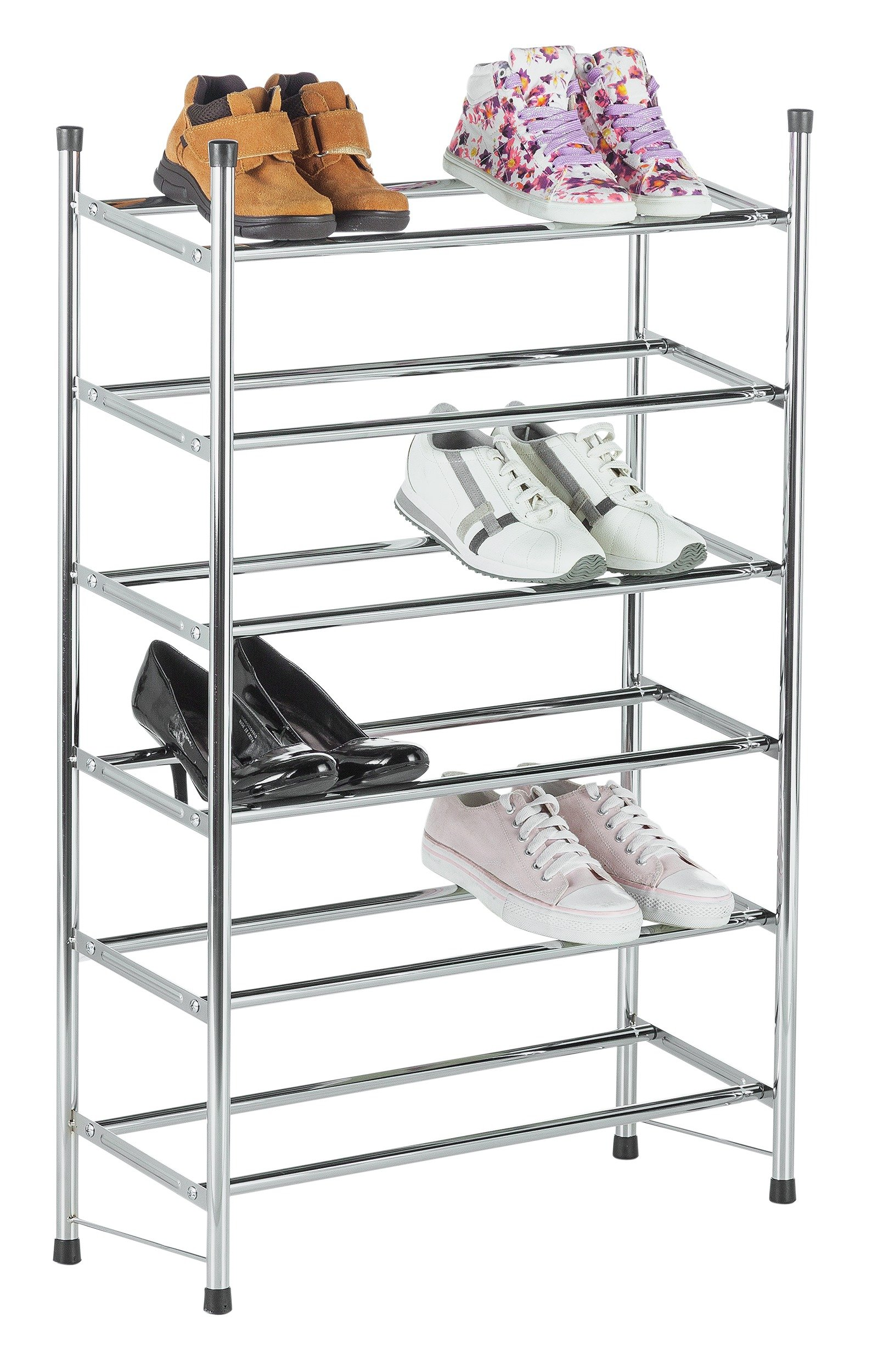 Argos Home 6 Tier Extendable Shoe Rack - Chrome