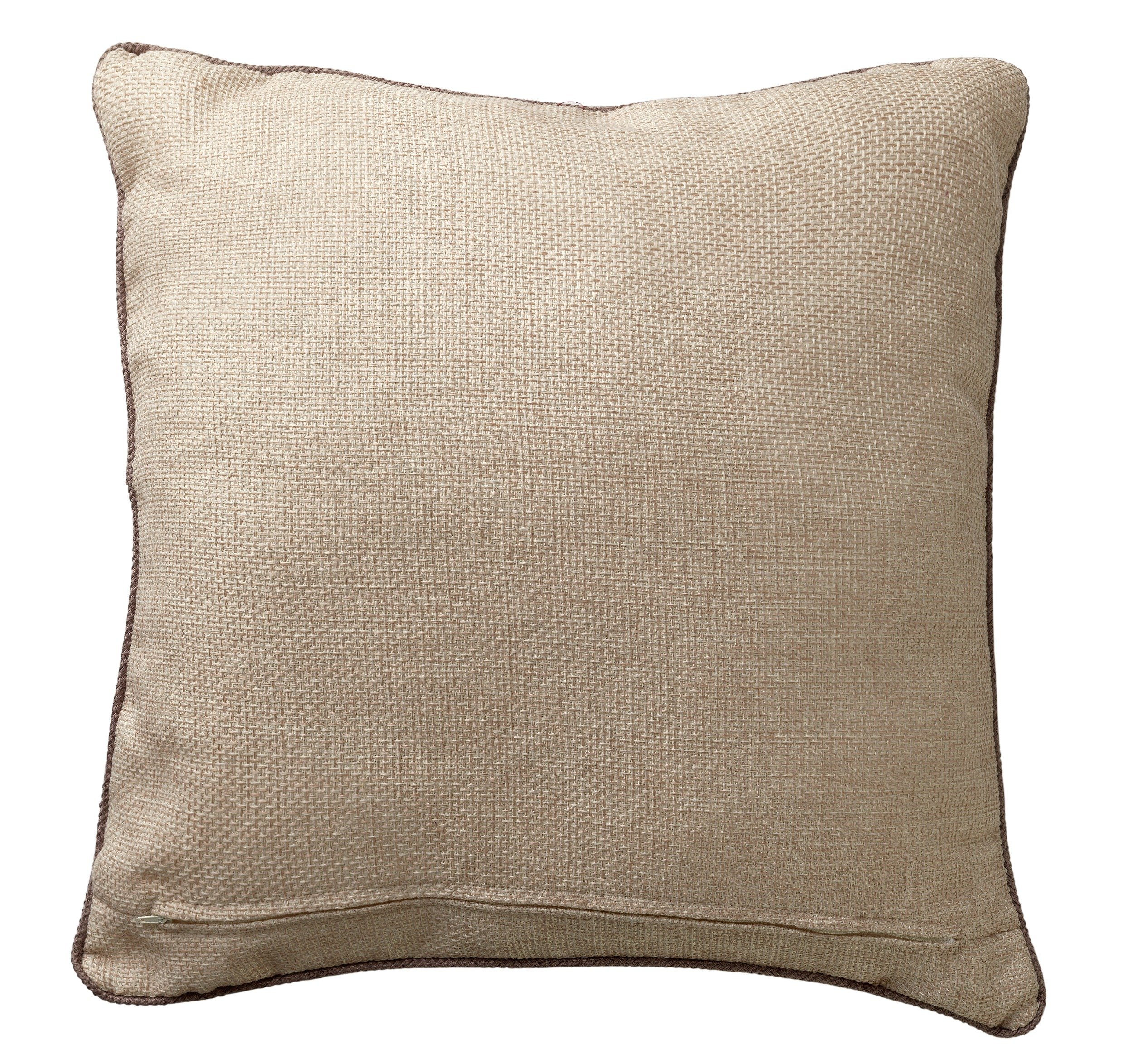 Heart of house hudson large cushion oatmeal for Chair cushion covers argos