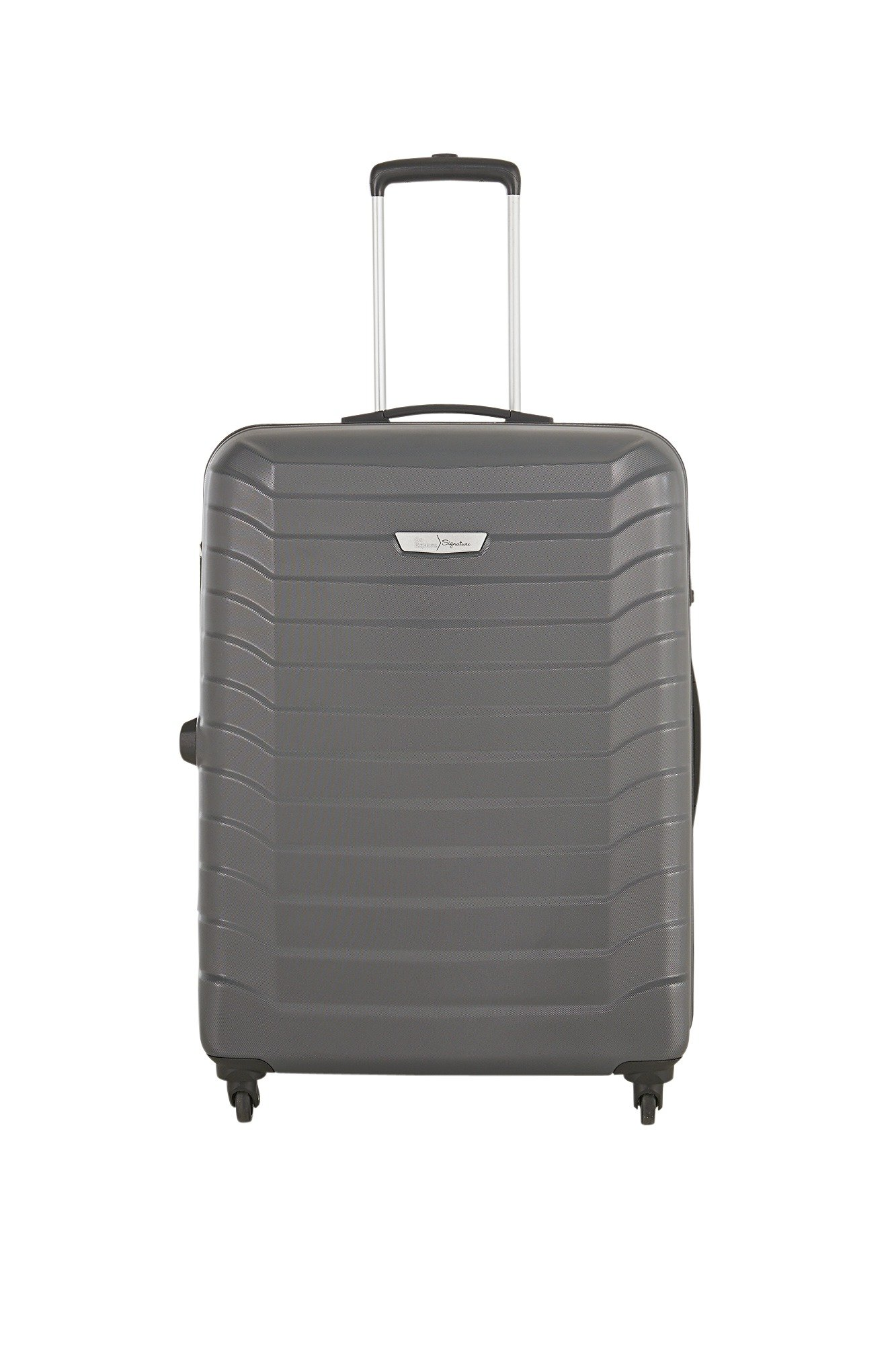Buy Go Explore Ultra Light 4 Wheel Hard Large Suitcase - Silver at ...