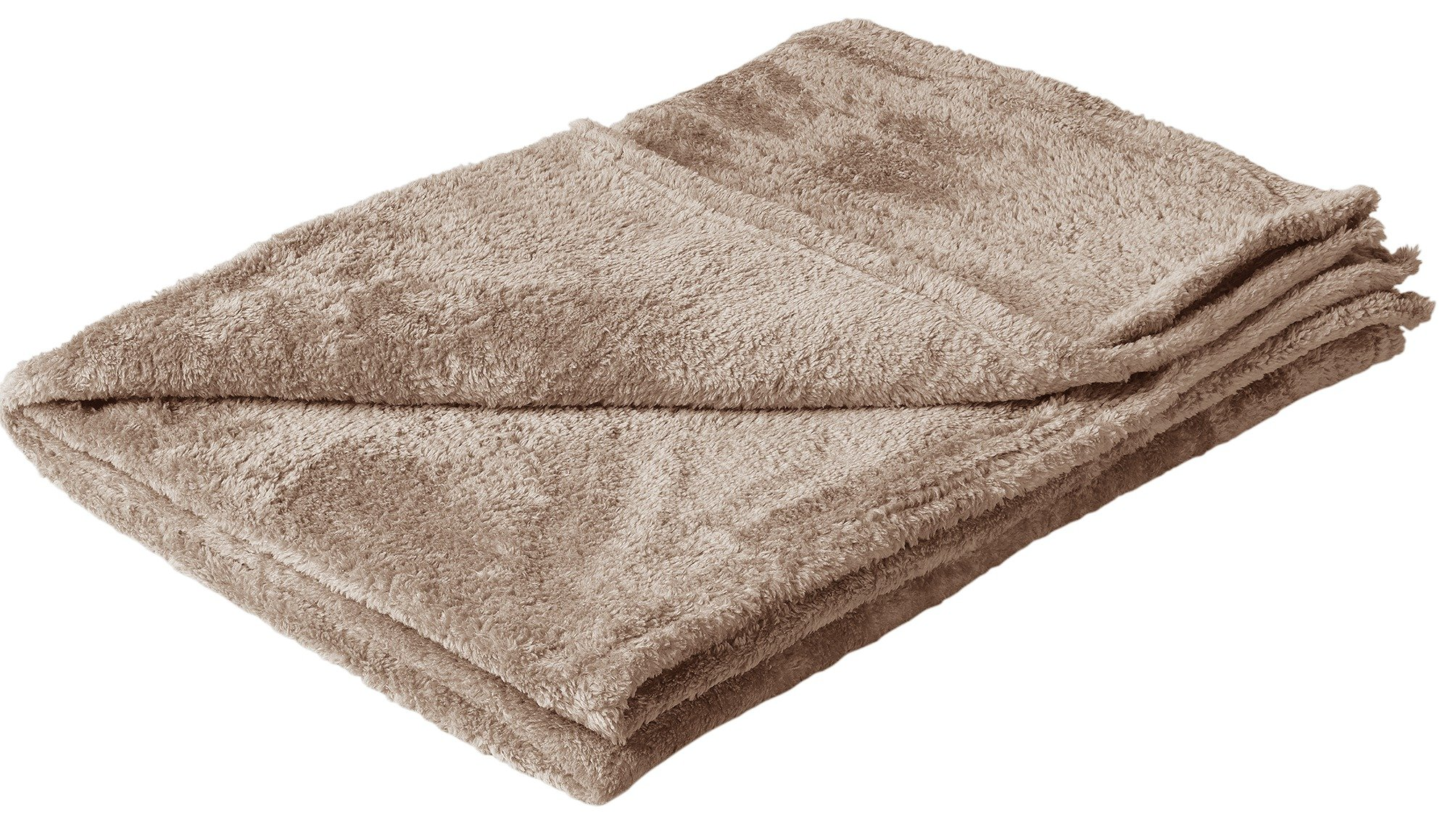 HOME Soft Fleece Throw - Latte