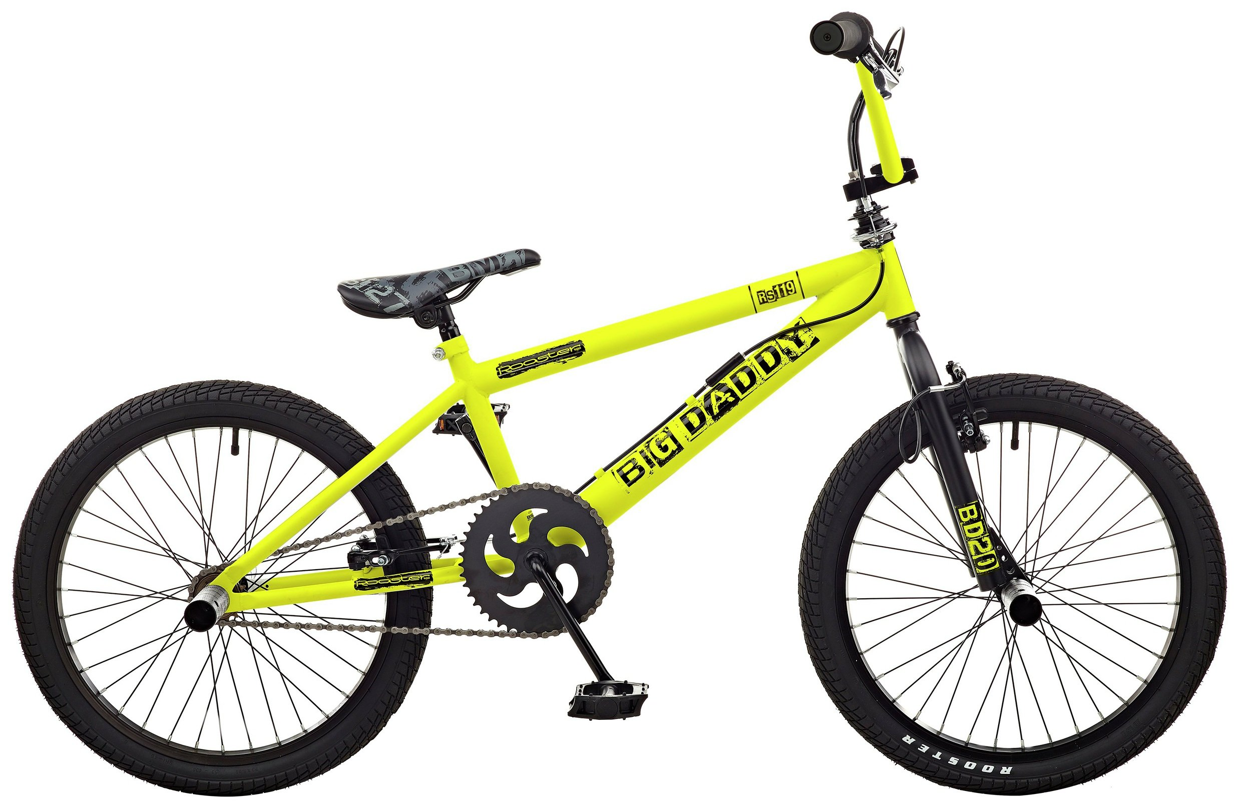 'Rooster Big Daddy 20 Bmx Bike - Yellow & Black