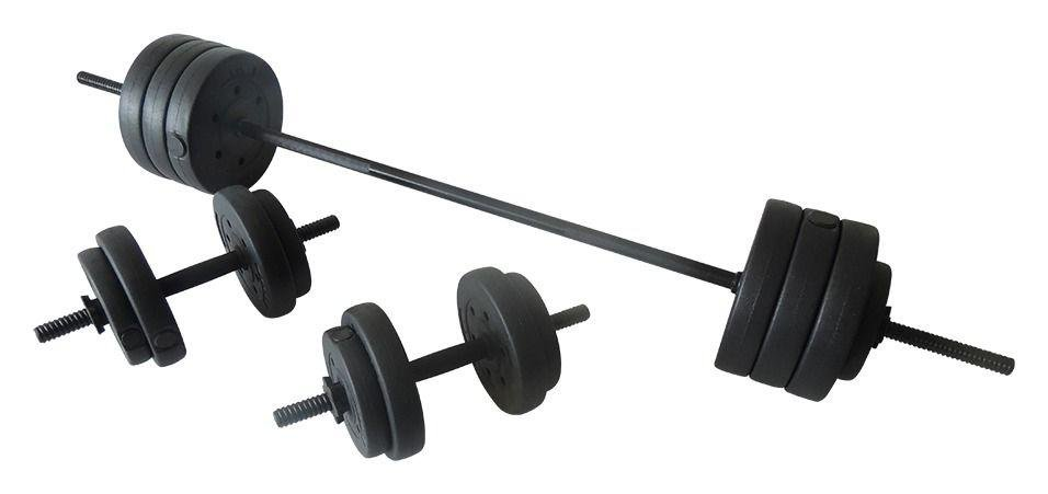 Opti Vinyl Barbell and Dumbbell Set - 50kg
