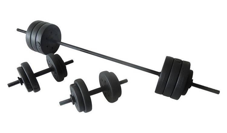 Buy Opti Vinyl Barbell and Dumbbell Set - 50kg | Dumbbells | Argos
