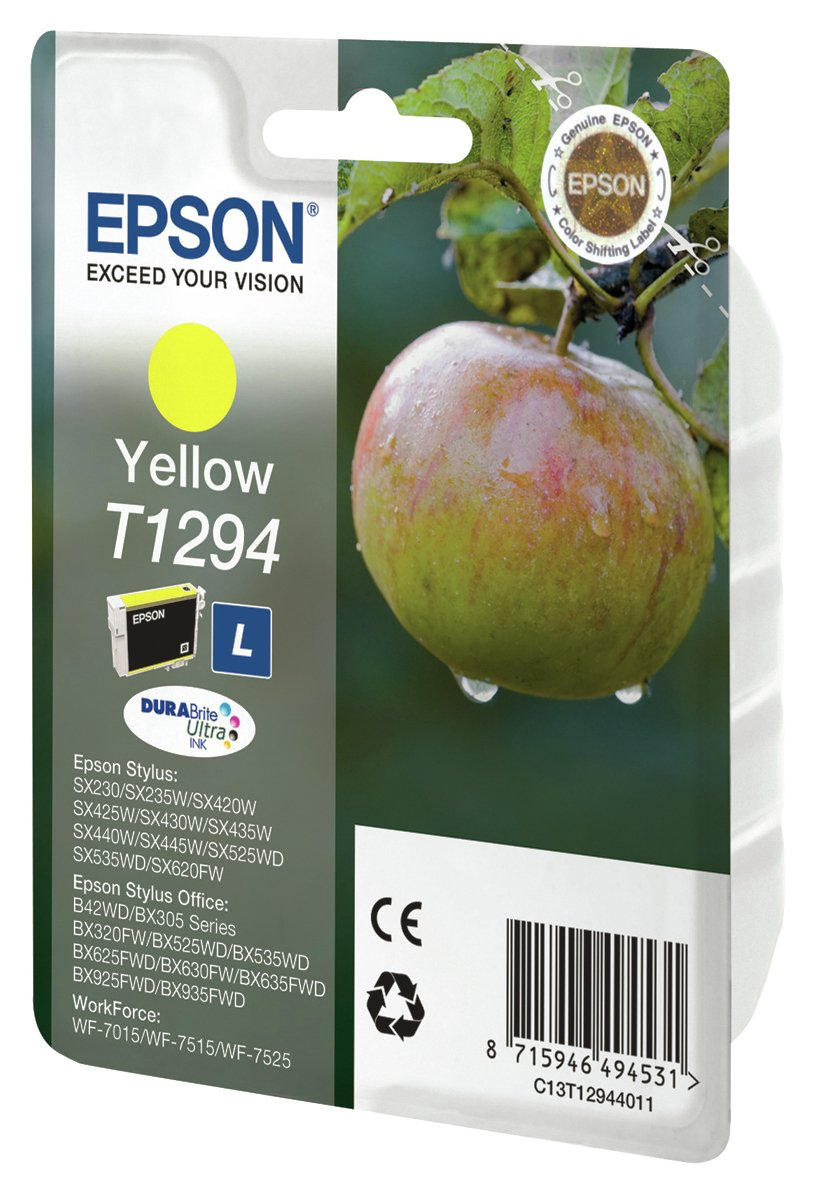 Image of Epson Apple T1294 Standard Ink Cartridge - Yellow.