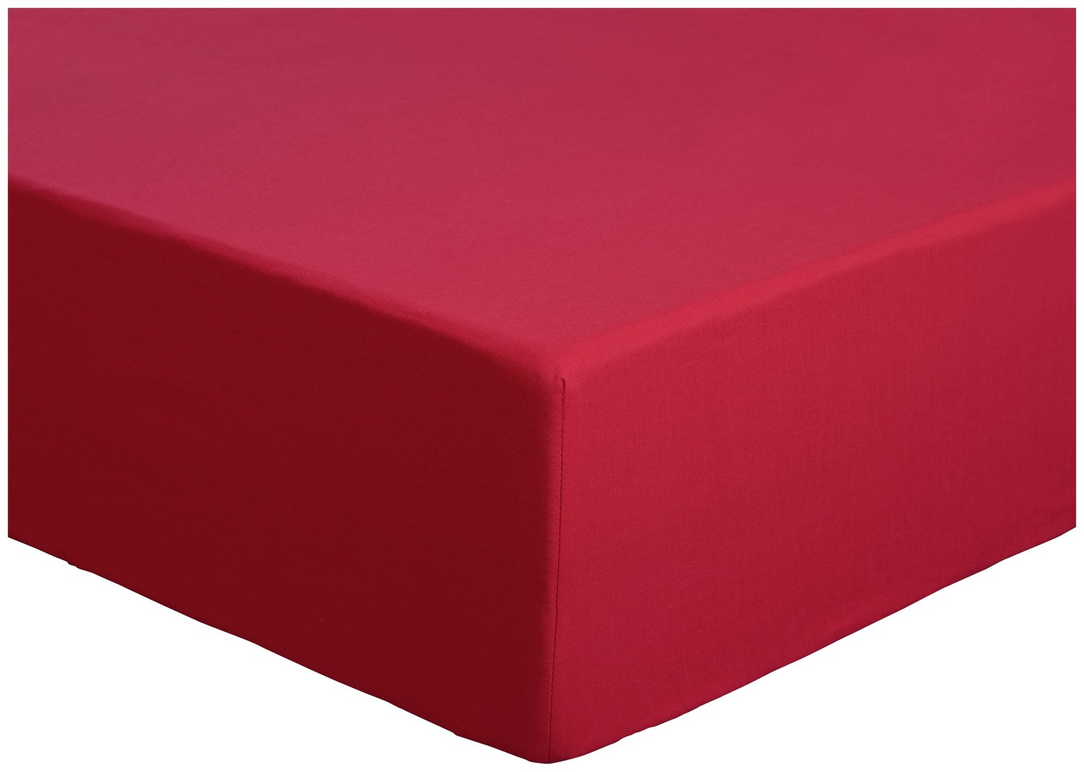 colourmatch poppy red fitted sheet  kingsize