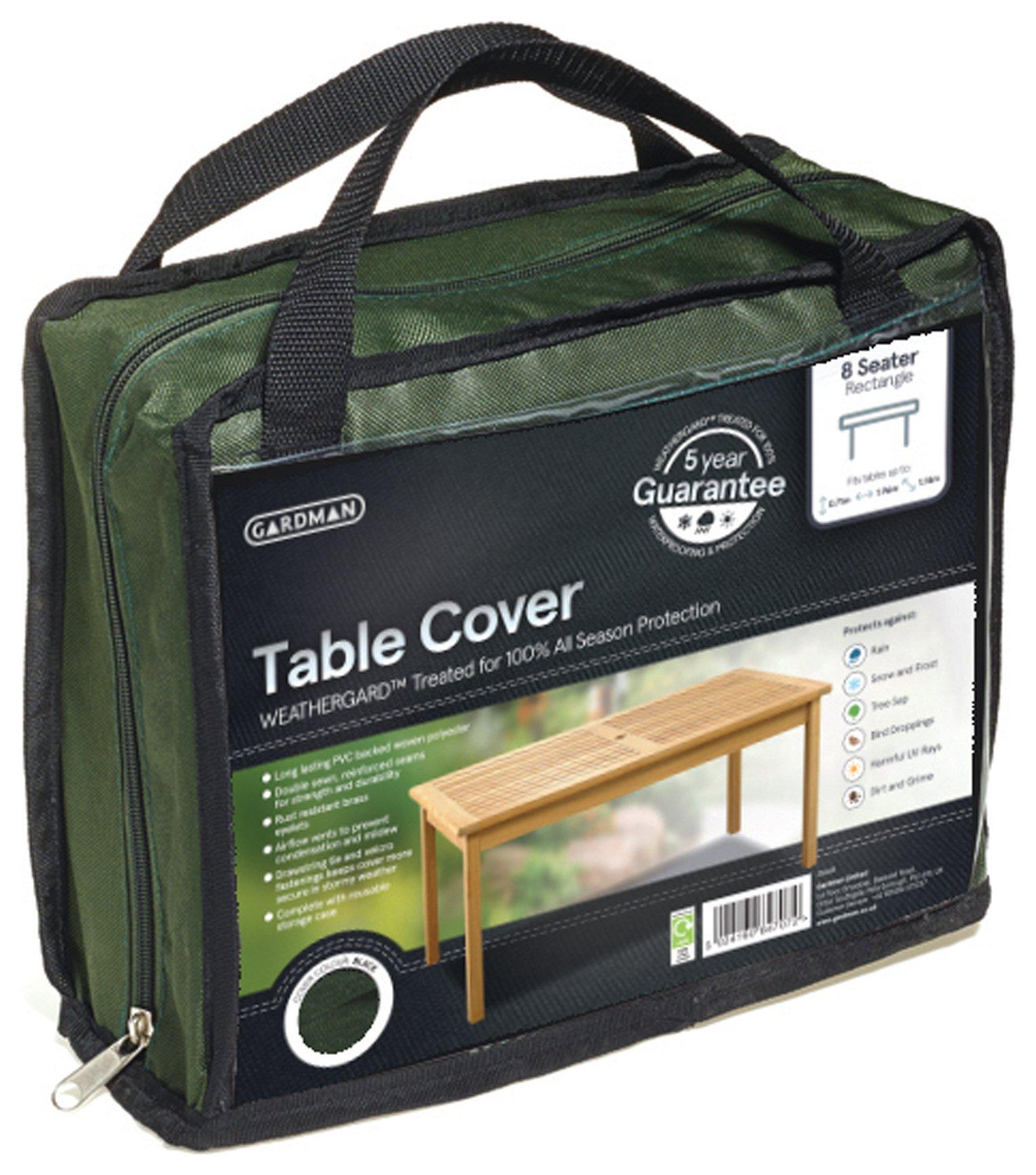 Gardman - Rectangular - 8 Seater Table Cover - Greens