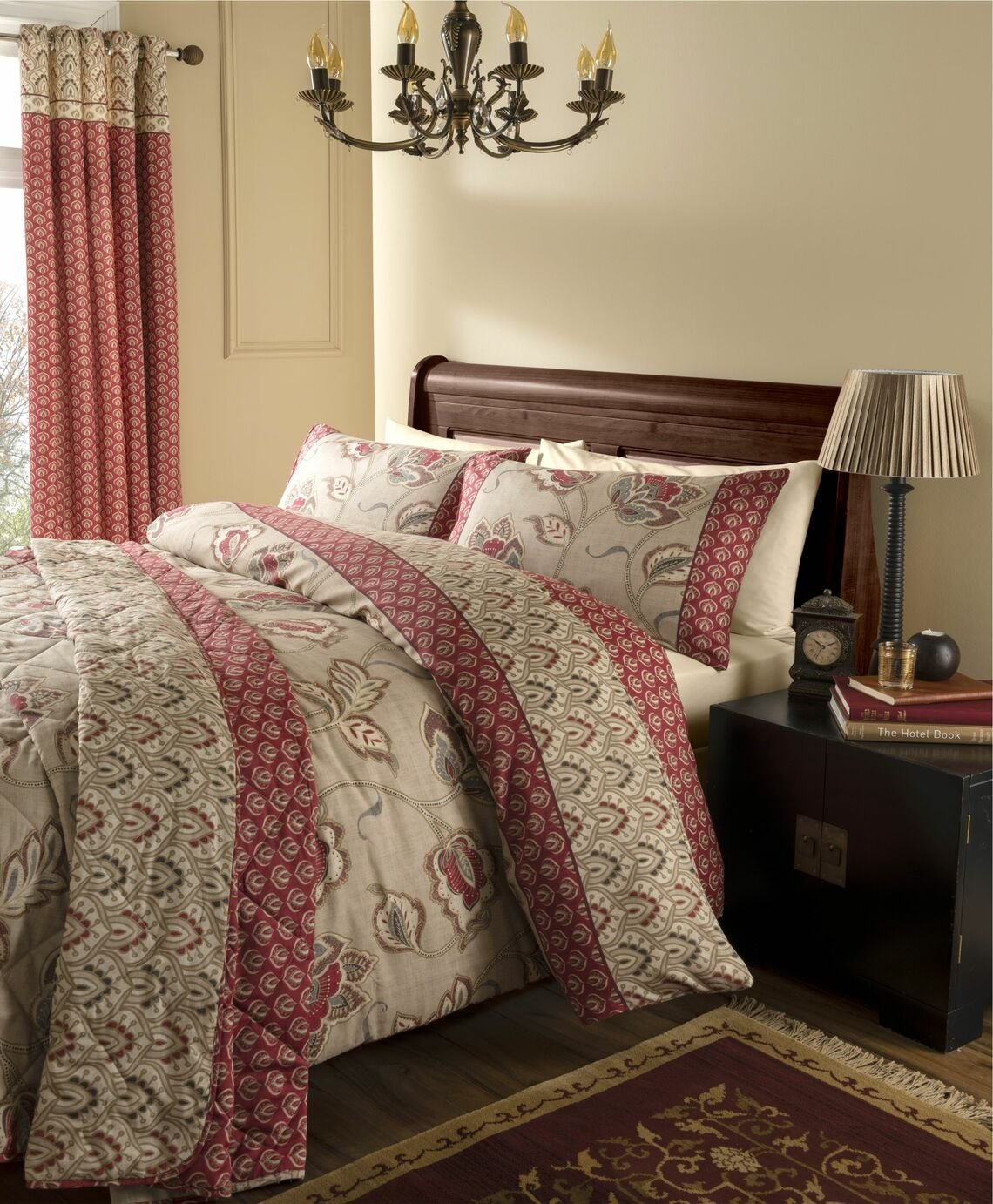 catherine lansfield kashmir duvet cover set  single.
