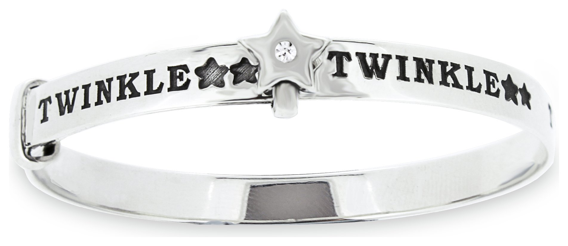 Revere Kid's Sterling Silver Twinkle Bangle - 0-18 Months