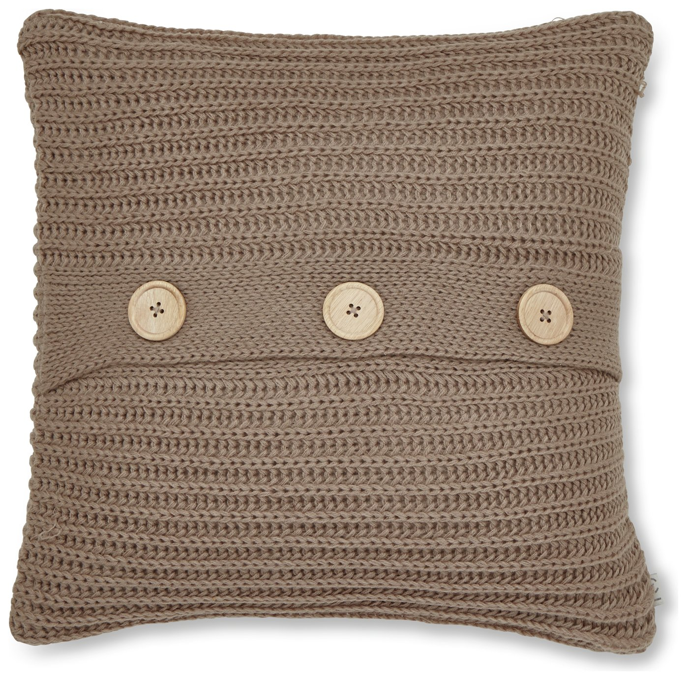 Image of Catherine Lansfield Chunky Knit Cushion - Natural