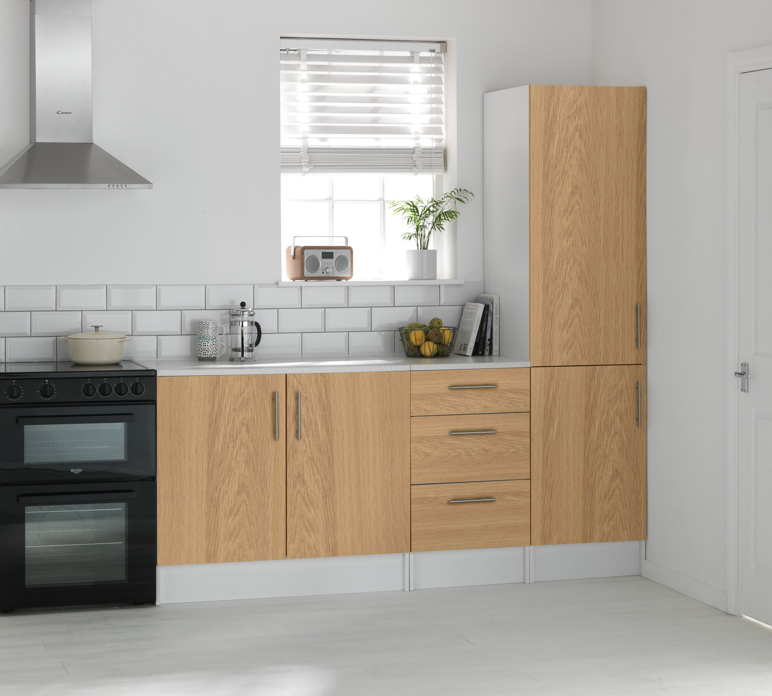 Image of Athina - 3 Piece - Fitted - Kitchen Unit Package - Oak