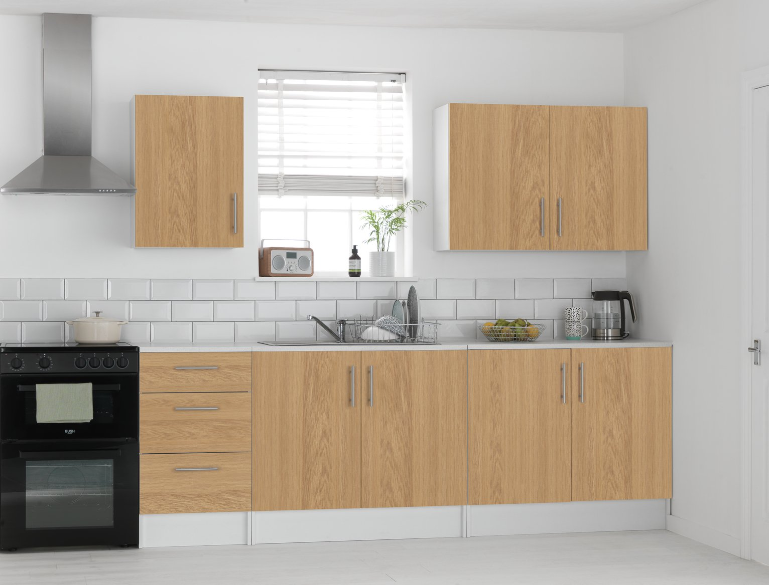 Athina - 5 Piece - Fitted - Kitchen Unit Package - Oak