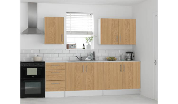 Argos Home Athina 5 Piece Fitted Kitchen Package -Oak Effect