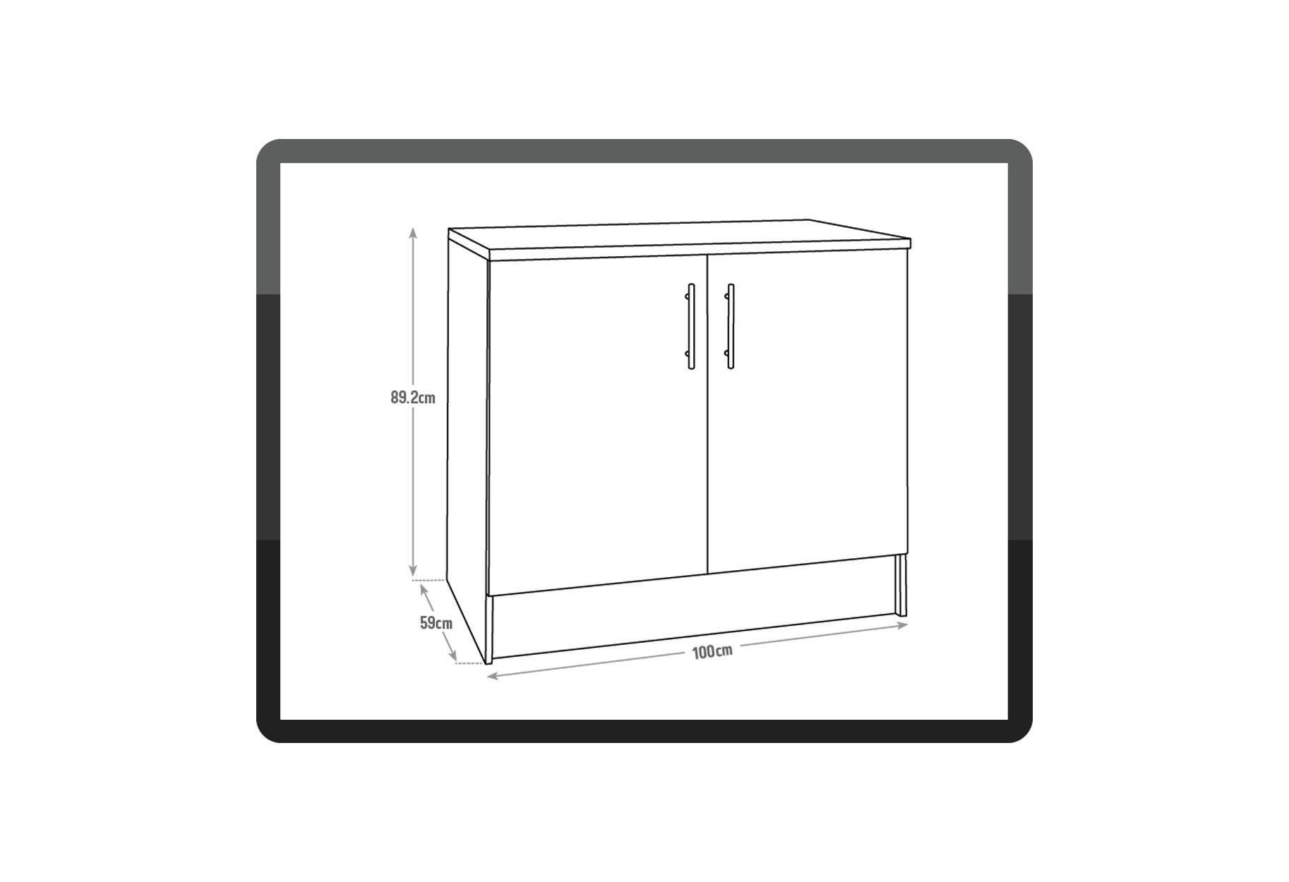 Sale on hygena athina 1000mm fitted kitchen base for Oak kitchen base units