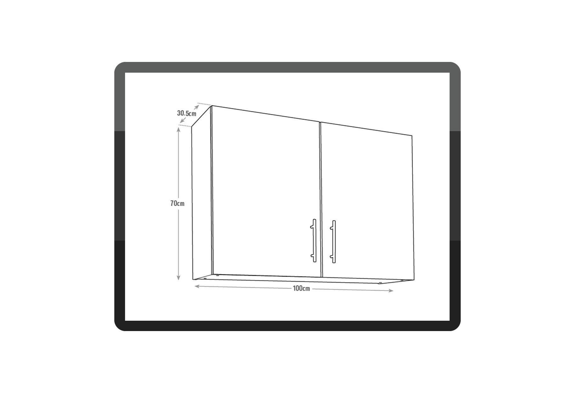Image of Athina - 1000mm Wall Unit - Oak