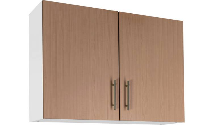 Argos Home Athina 1000mm Fitted Kitchen Wall Unit-Oak Effect
