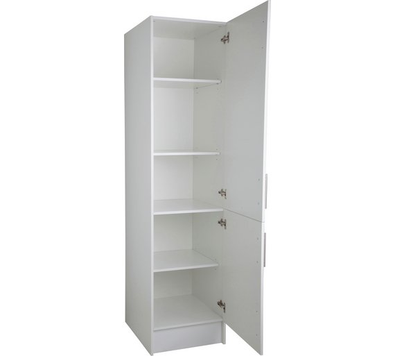 Buy hygena athina 500mm tall fitted kitchen unit white for Tall kitchen drawer unit