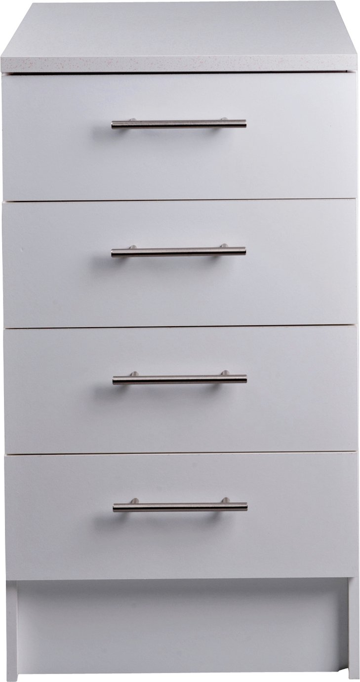 Athina 500mm Fitted Kitchen Drawer Unit - White.