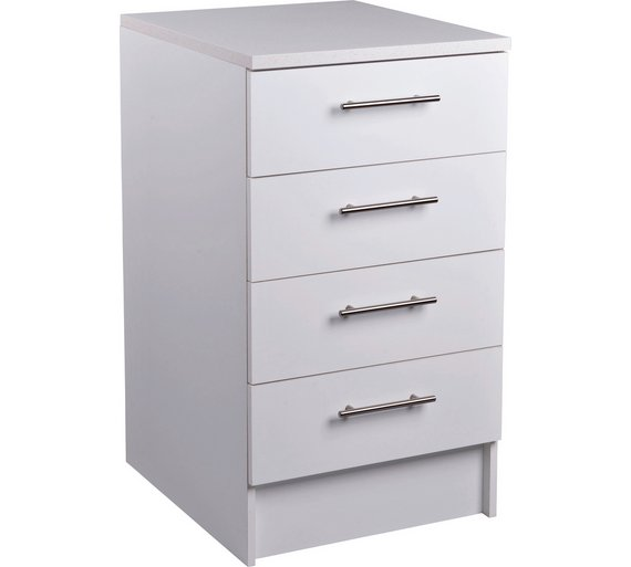 Buy athina 500mm fitted kitchen drawer unit white at for Tall kitchen drawer unit