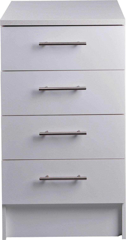 White Kitchen Drawers buy athina 500mm fitted kitchen drawer unit - white at argos.co.uk