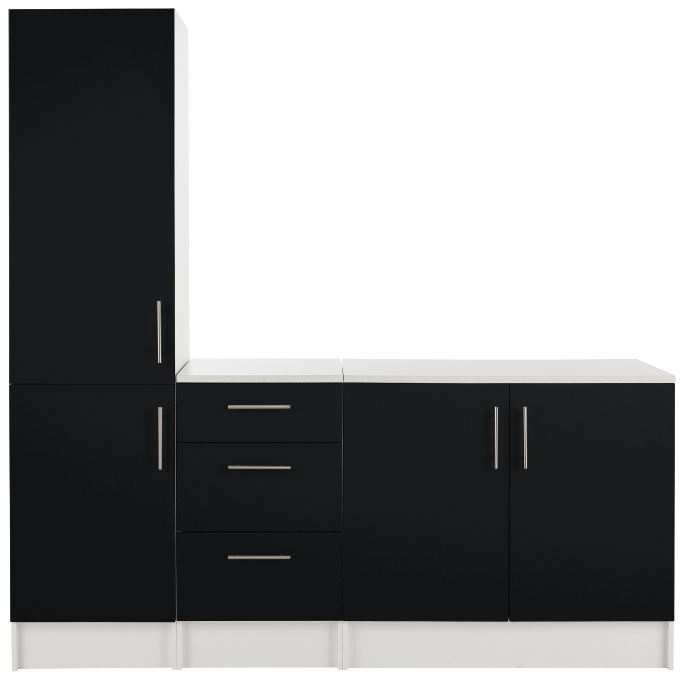 Athina - 3 Piece - Fitted - Kitchen Unit Package - Black