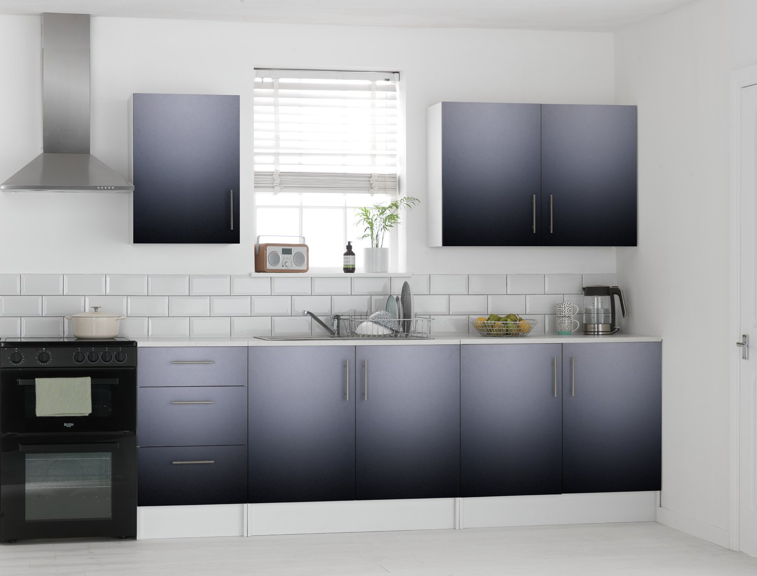 Athina - 5 Piece - Fitted - Kitchen Unit Package - Black