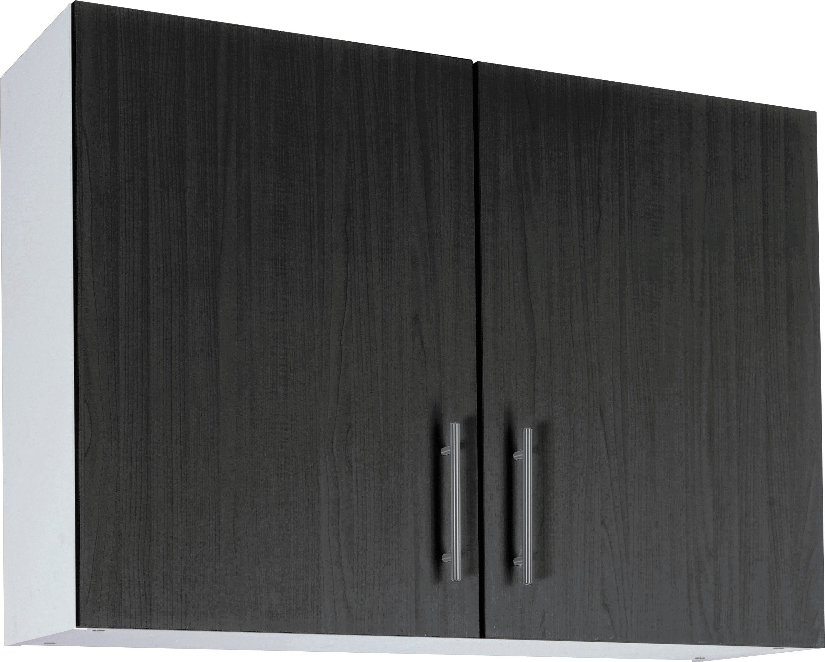 Athina 1000mm Fitted Kitchen Wall Unit - Black.
