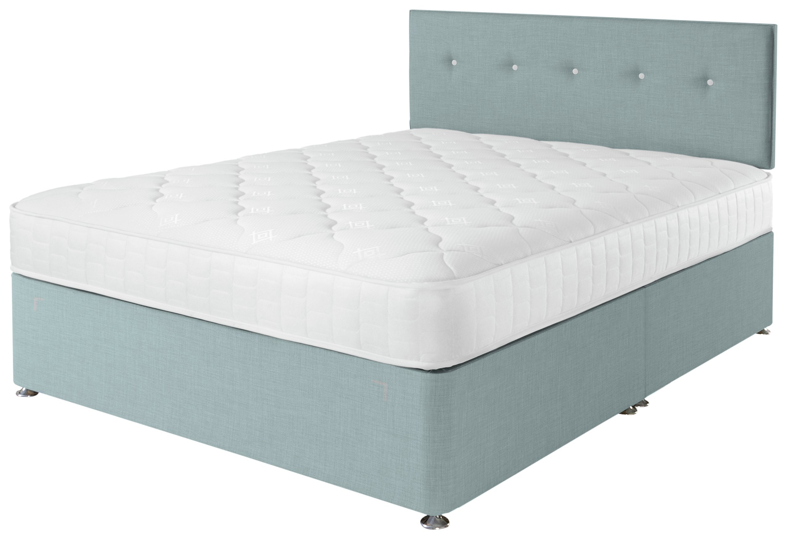 Airsprung Dalham Memory Blue Divan Bed - Kingsize