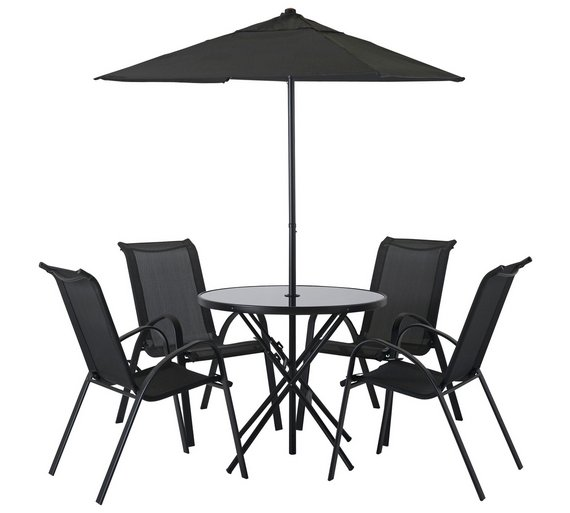 home sicily 4 seater patio furniture set