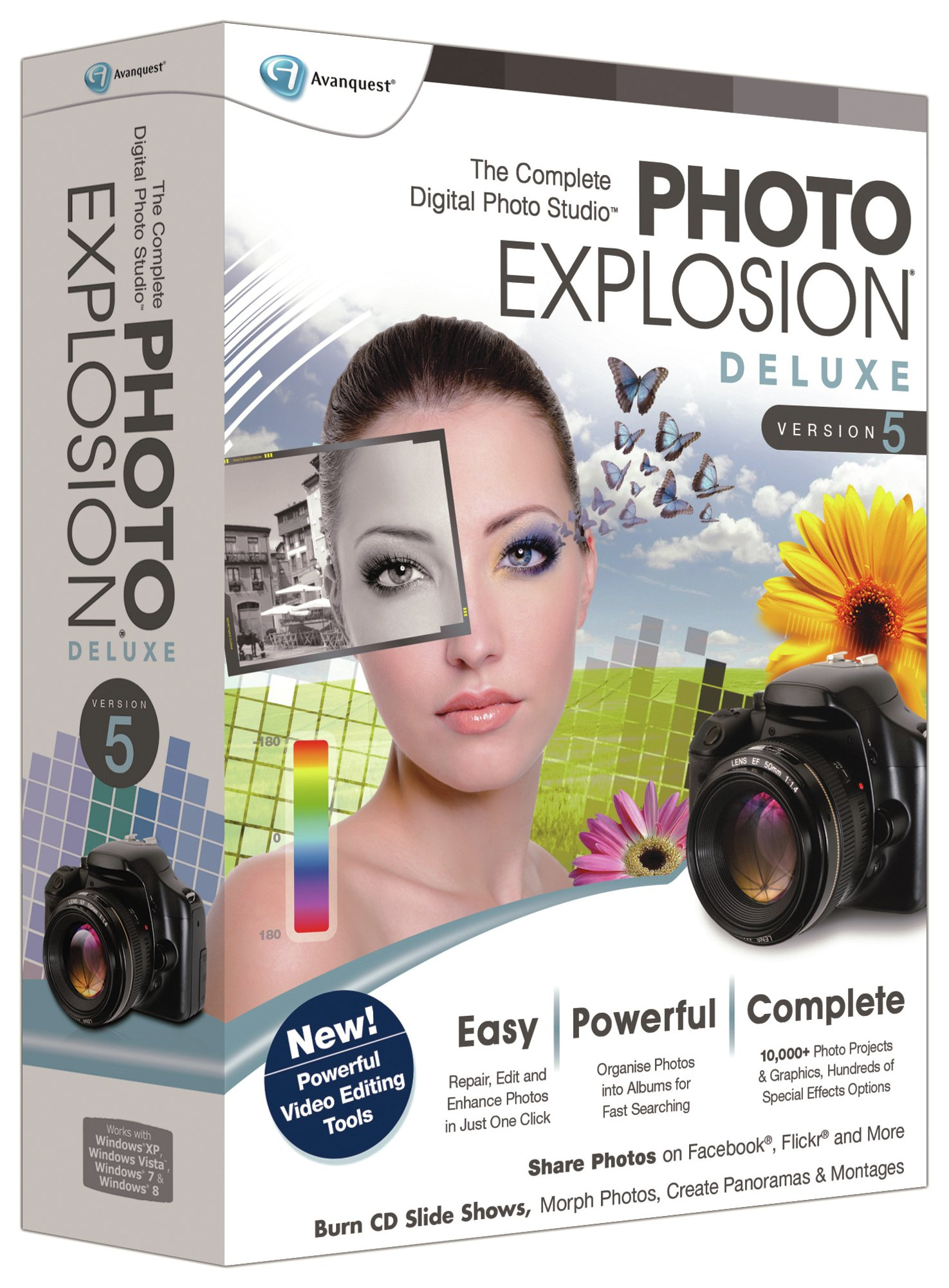 Image of Photo Explosion - 5.0 Deluxe Photo Editing PC Software
