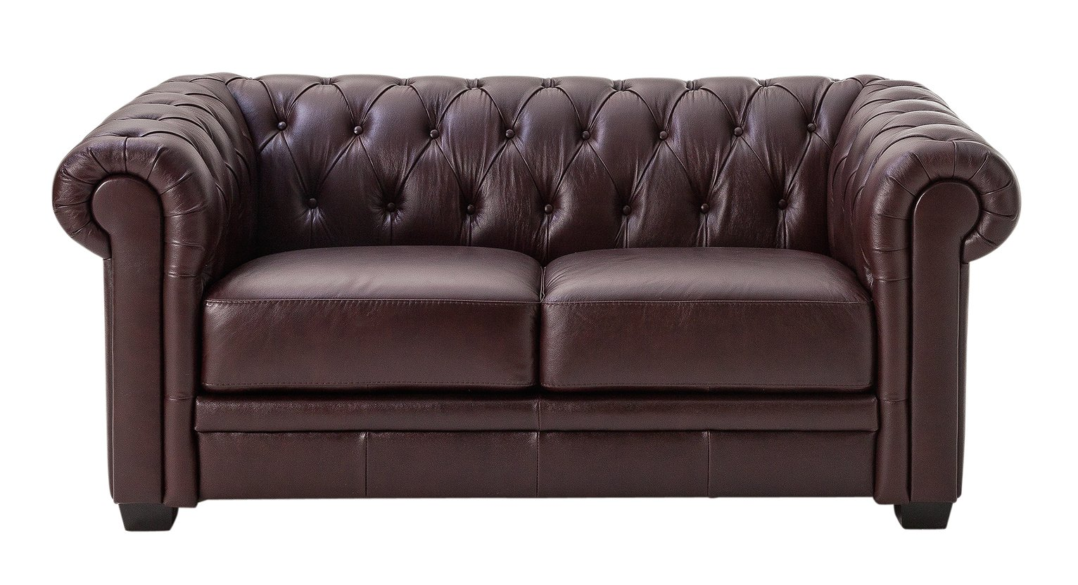 Habitat Chesterfield 2 Seater Leather Sofa - Walnut