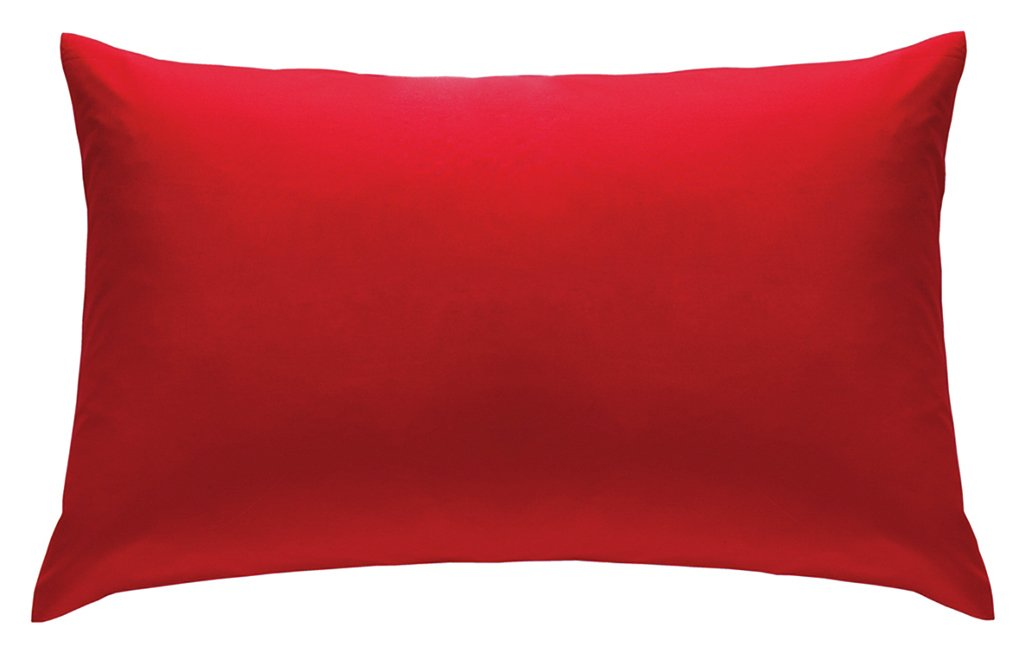 catherine lansfield housewife noniron pillowcases  red