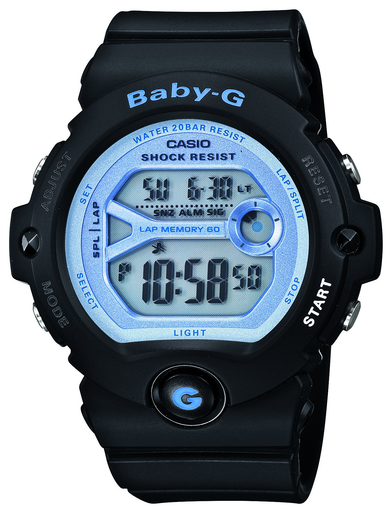 Image of Casio - Baby-G Black Digital Strap - Watch