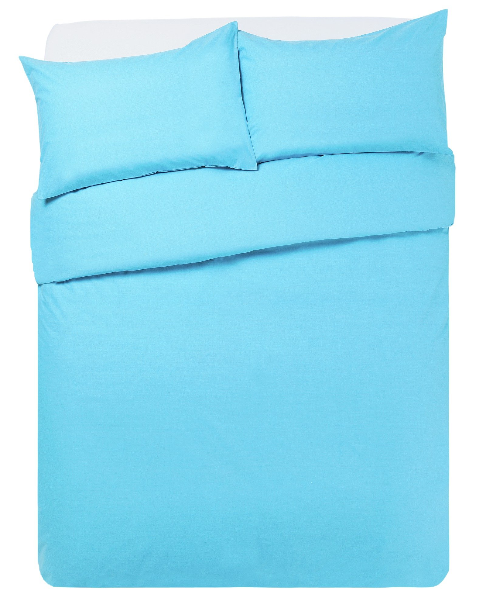colourmatch crystal blue bedding set  double