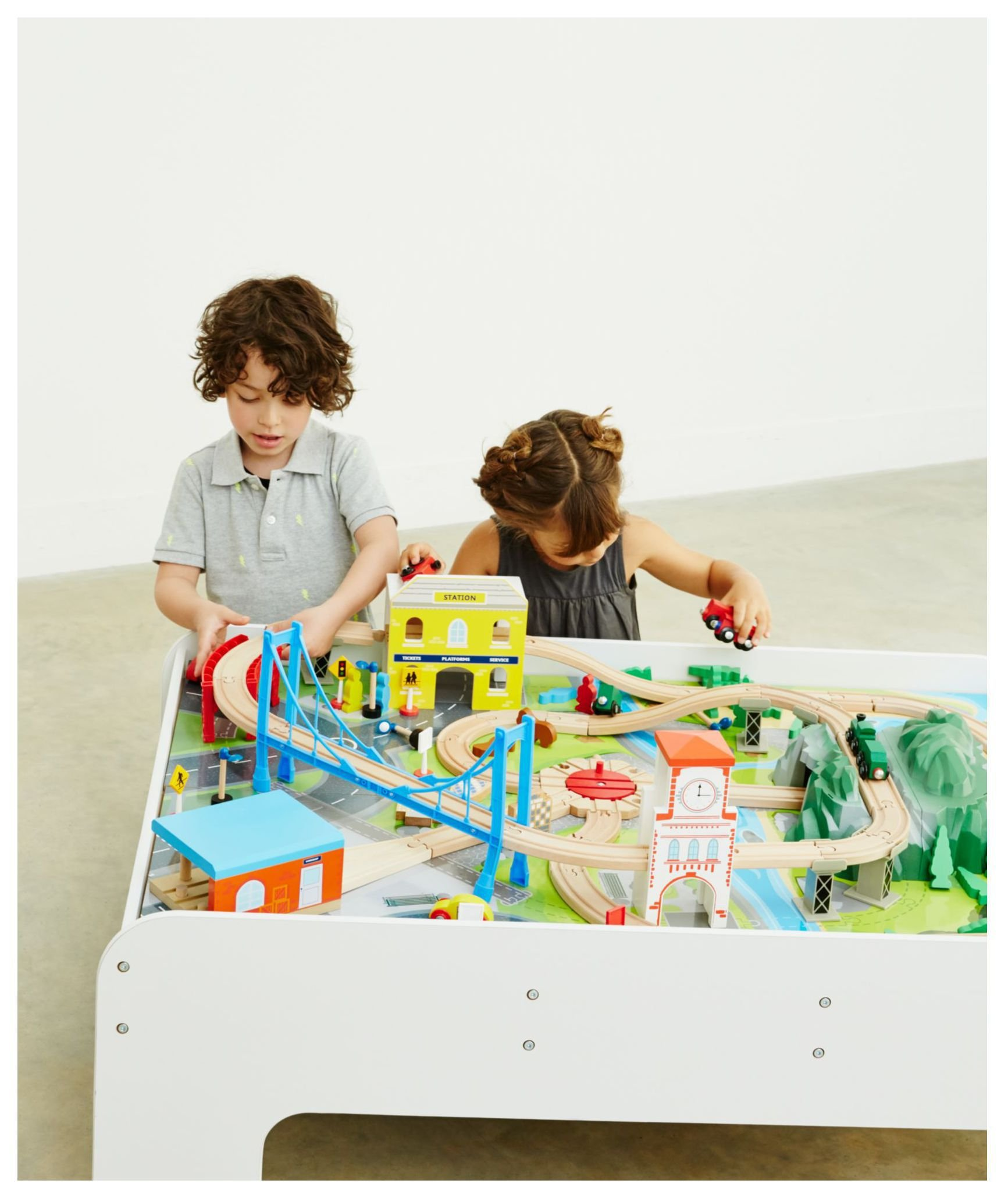 Image of Big City Wooden Train Table.
