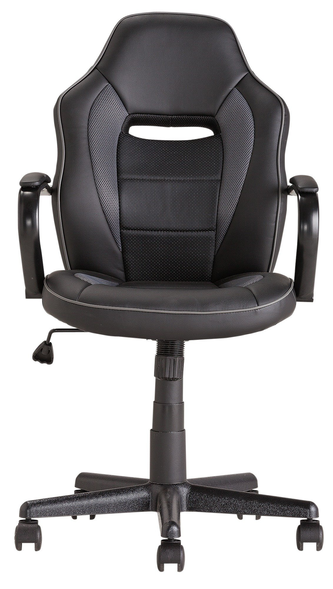 buy mid back office gaming chair - black at argos.co.uk - your