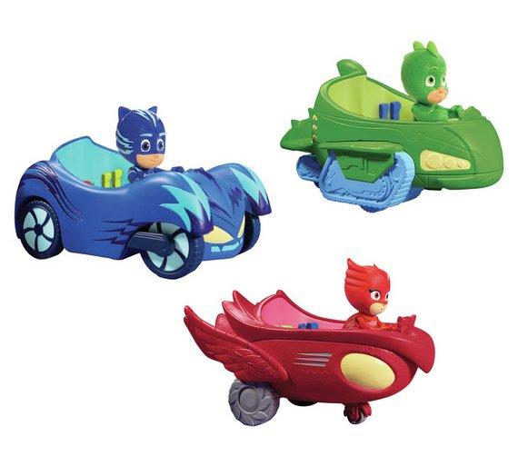 Buy Pj Masks Basic Vehicle And 3 Inch Figure Assortment Action